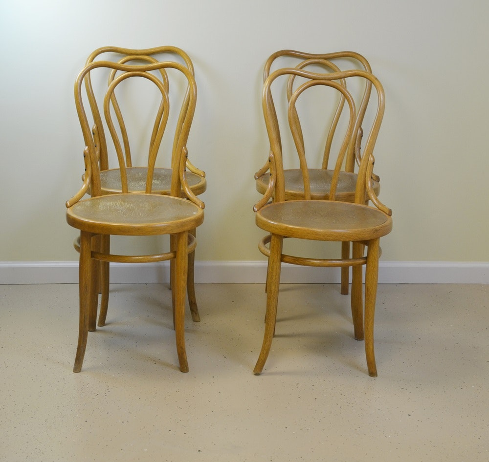 Gentil Four Vintage Bentwood Ice Cream Parlor Chairs Circa 1940s ...