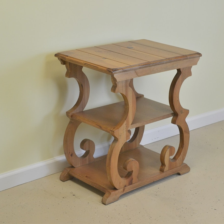 Whimsical Knotty Pine End Table