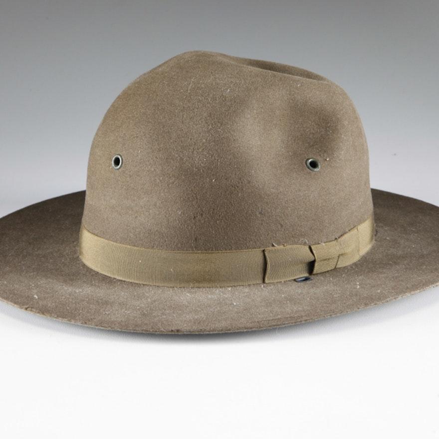 Vintage Stetson The Friedman Co. Campaign Style Hat   EBTH c5bd0e291e0