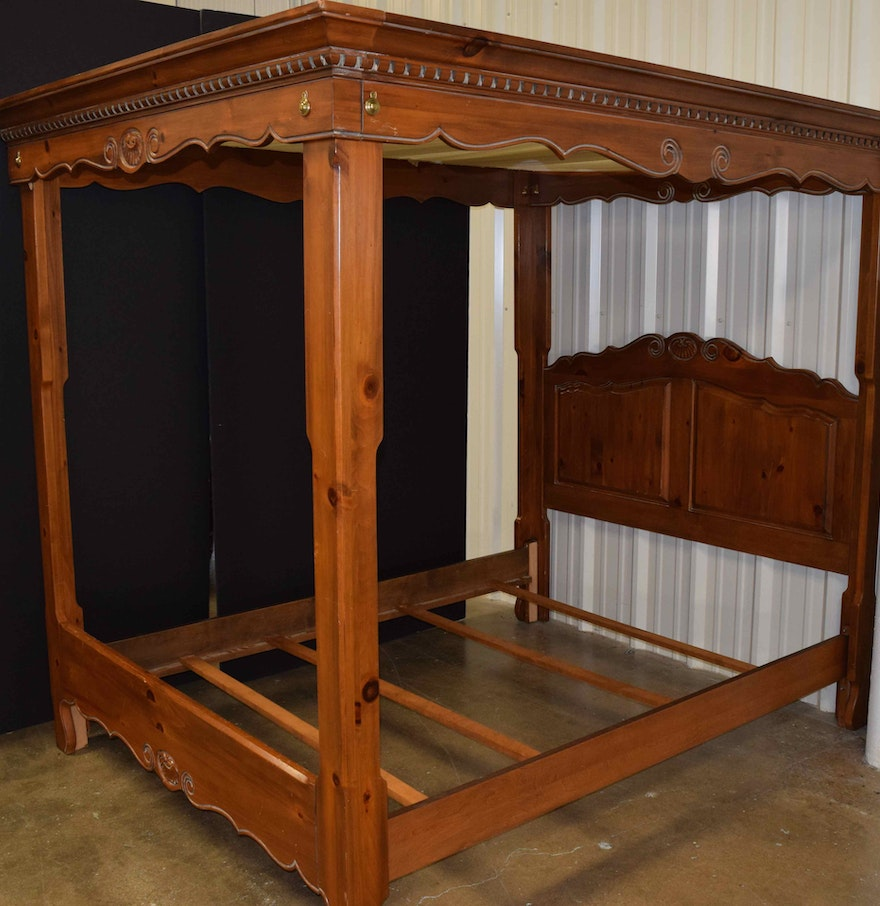 Ethan allen four poster queen size bed ebth - Ethan allen queen beds ...
