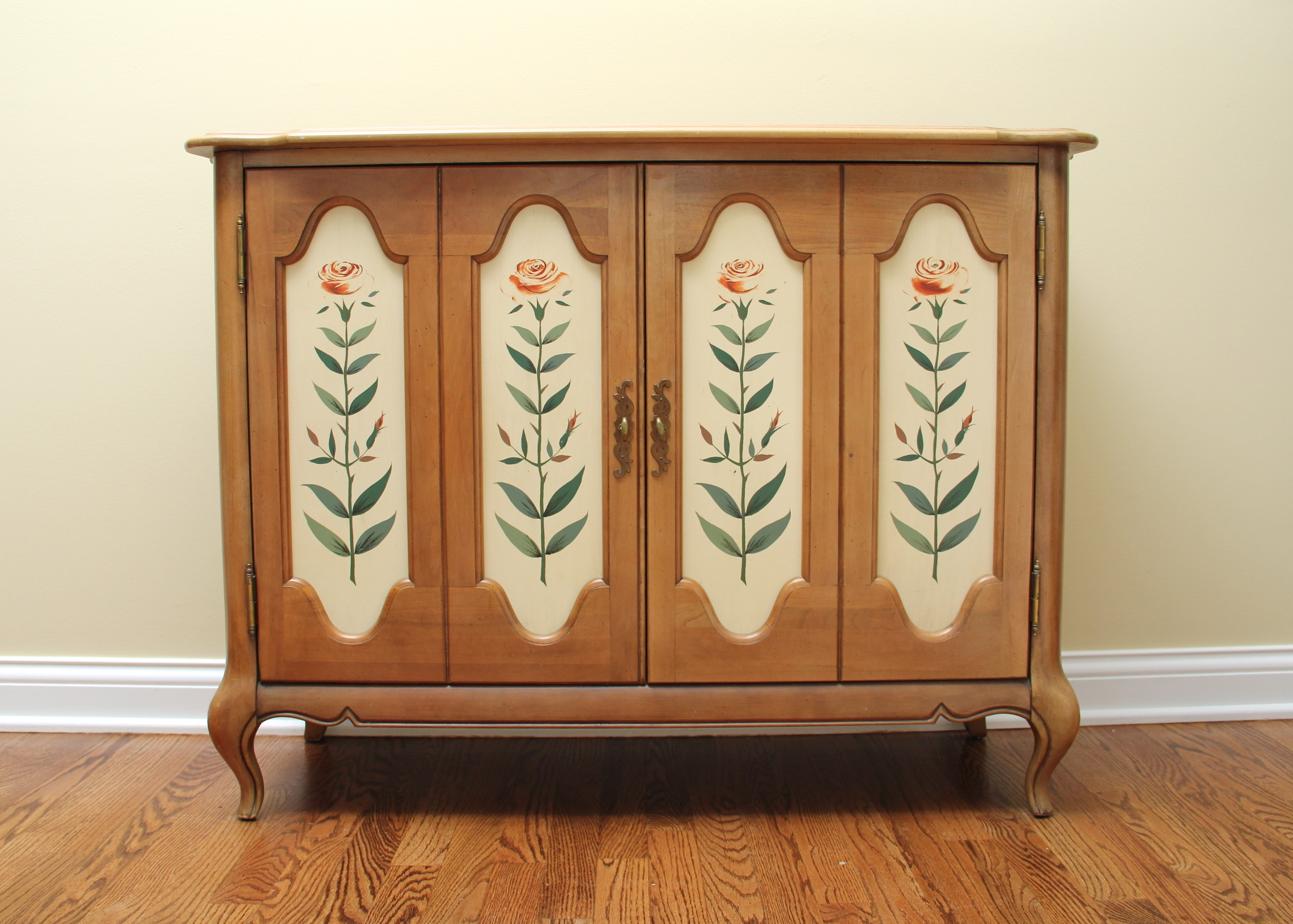 French Style, Pecan Wood Buffet by Brandt : EBTH