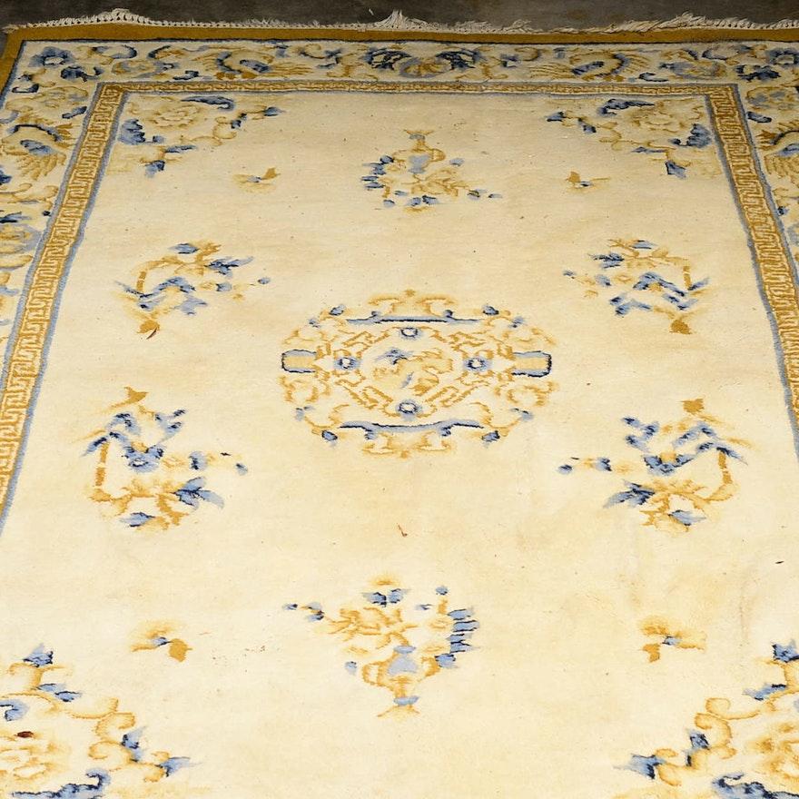 Ethan Allen Handmade Wool Oriental Rug Ebth