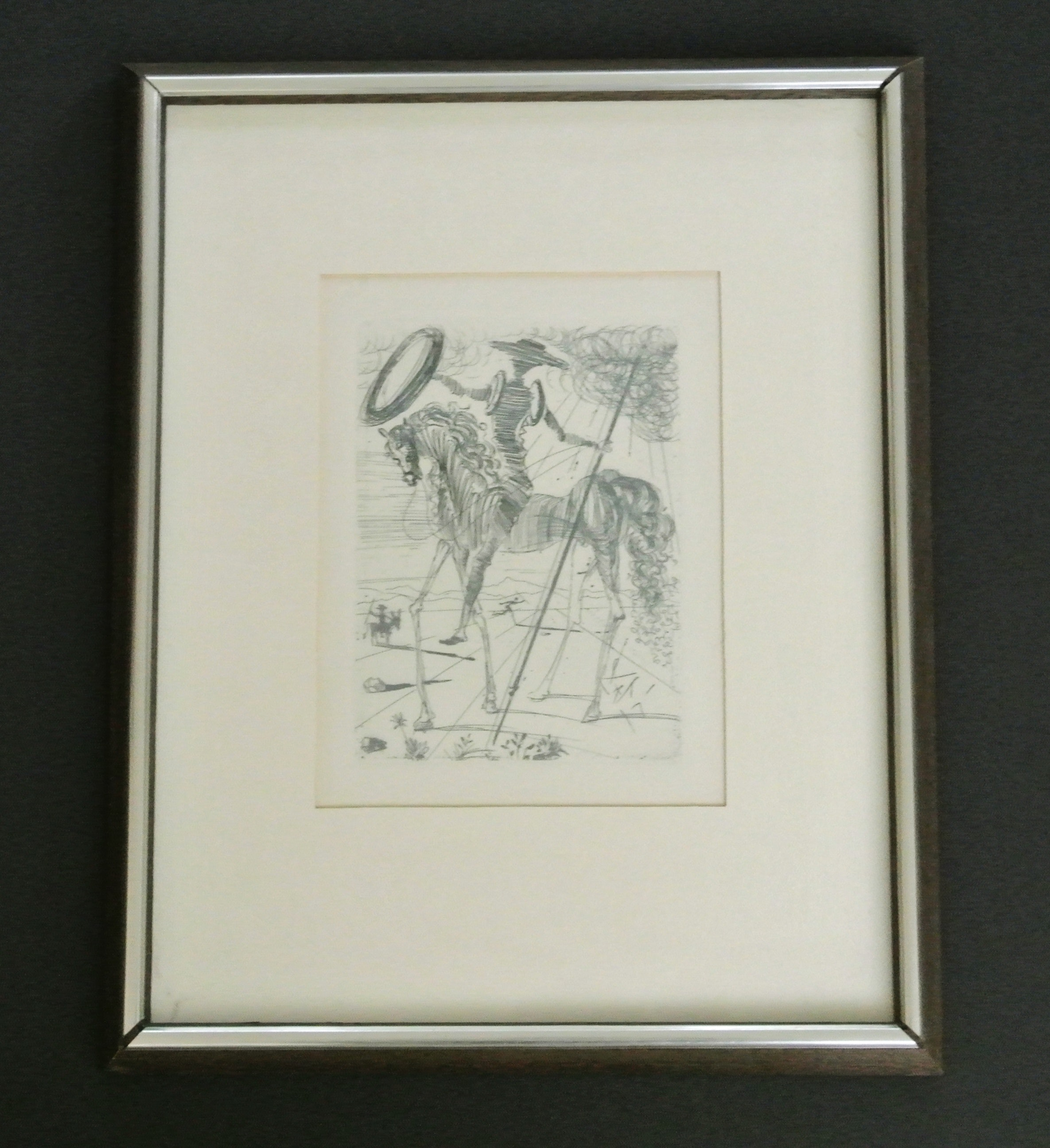 Salvador Dali Original Etching Of Don Quixote Ebth