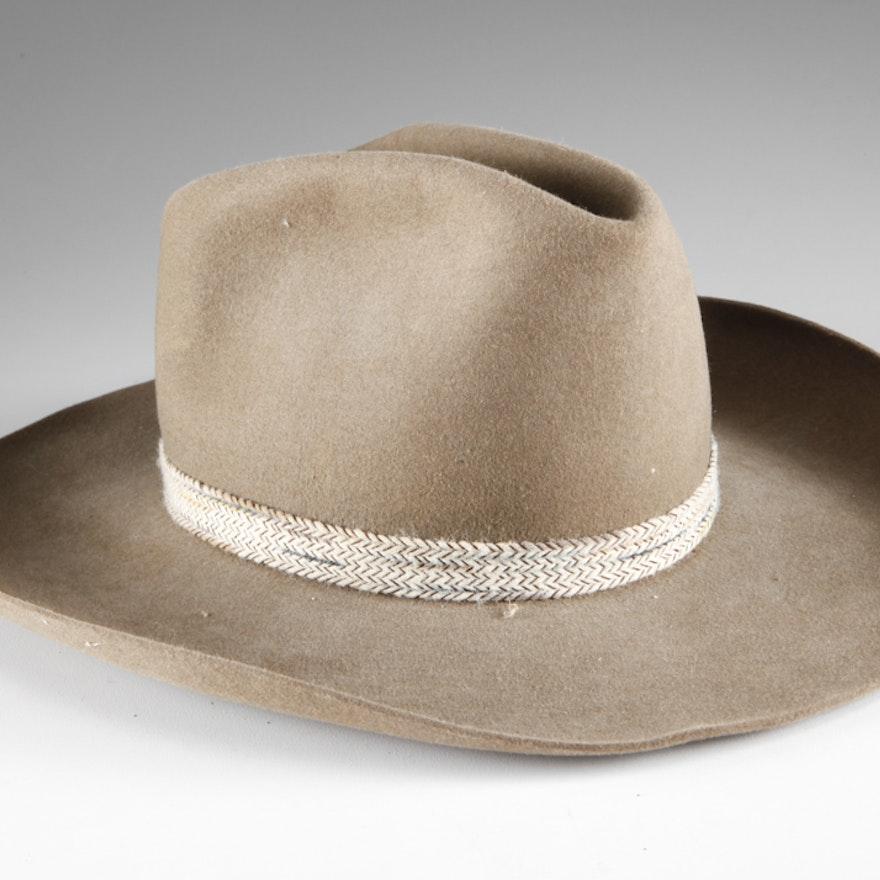 78f7f843b96 Vintage Stetson Fur Felt Cowboy Hat   EBTH