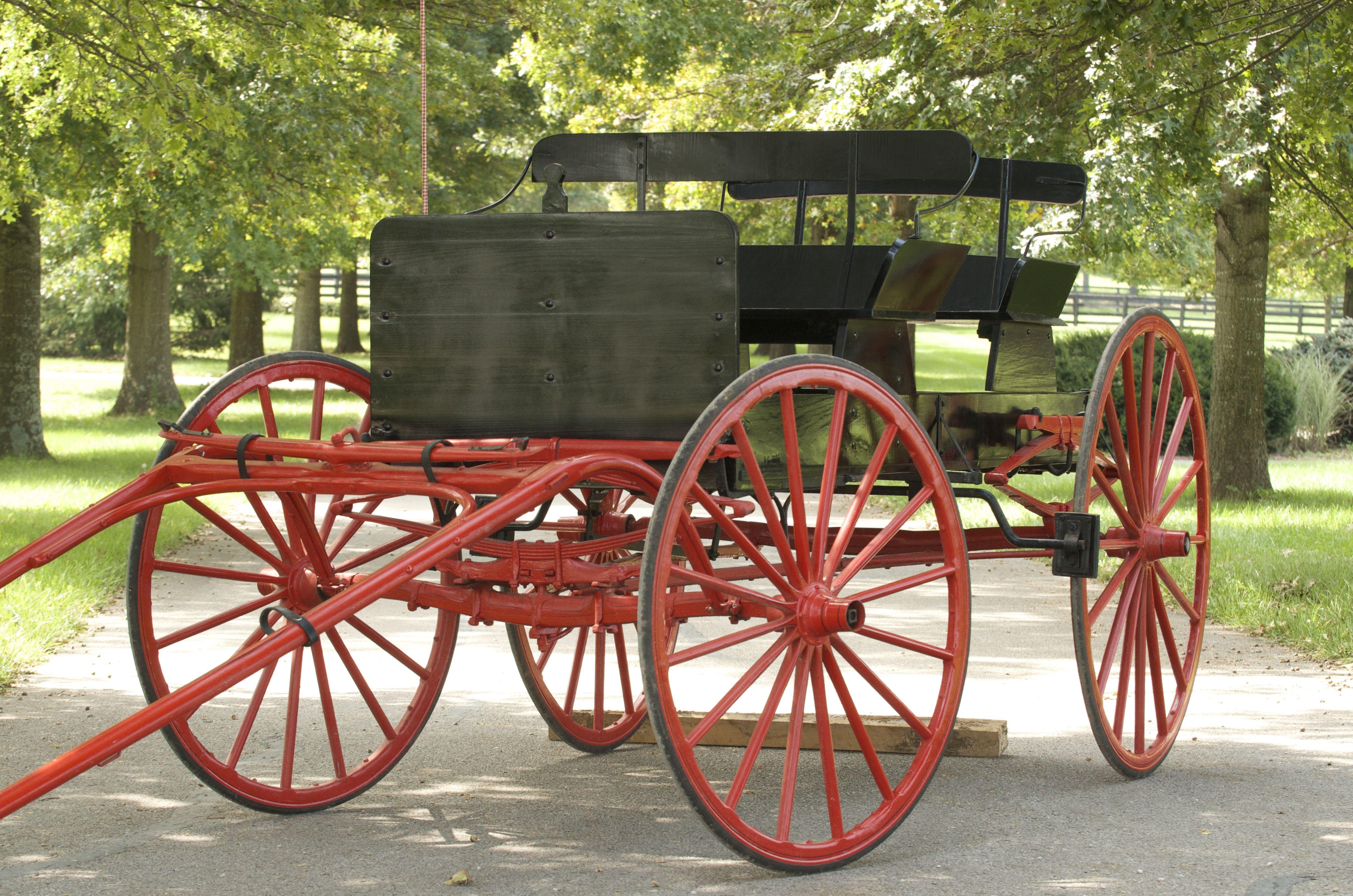 Antique Buckboard Horse Drawn Wagon Ebth