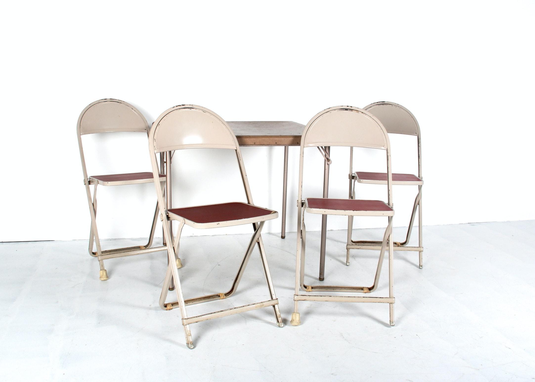 Vintage Samsonite Folding Table and Four Chair Set EBTH