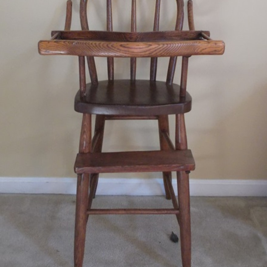 Antique oak Bentwood Highchair ... - Antique Oak Bentwood Highchair : EBTH