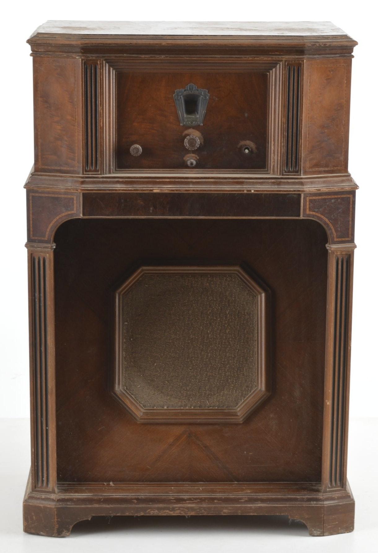C 1935 Philco Super Heterodyne Eleven Radio Ebth