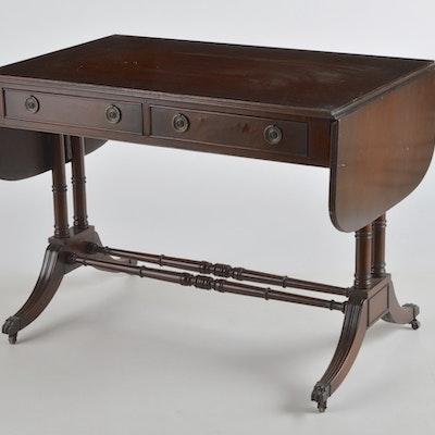 Vintage Mahogany Drop-Leaf Table - Online Furniture Auctions Vintage Furniture Auction Antique