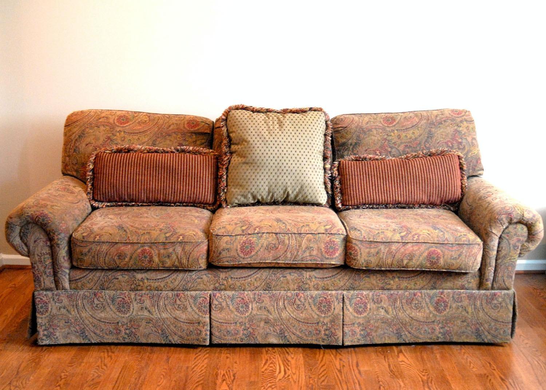 Vintage Floral Print Norwalk Furniture Couch EBTH