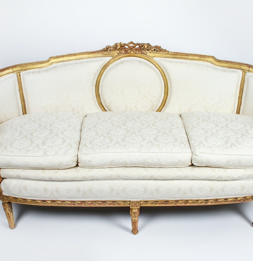Antique 19th century french louis xvi canape style sofa ebth - Canape style vintage ...