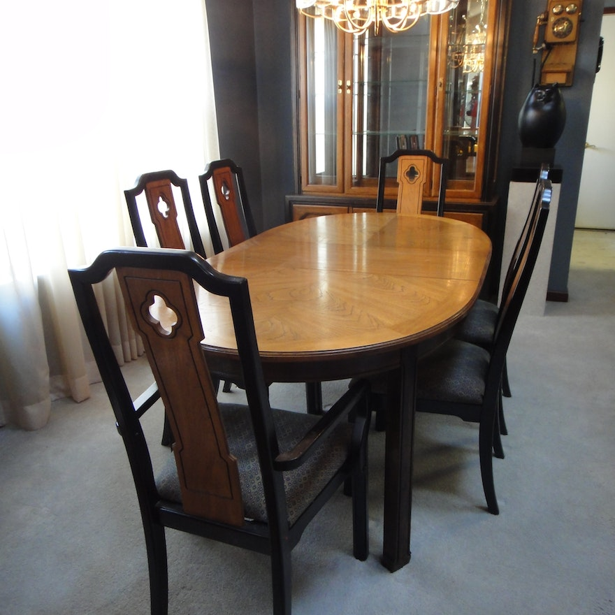 Thomasville Dining Room Sets: Mid Century Thomasville Dining Room Table & 6 Chairs : EBTH