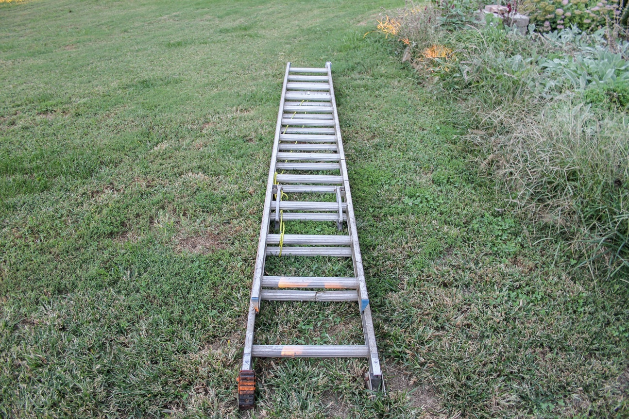 Werner 24 Ft Aluminum D Rung Extension Ladder Ebth