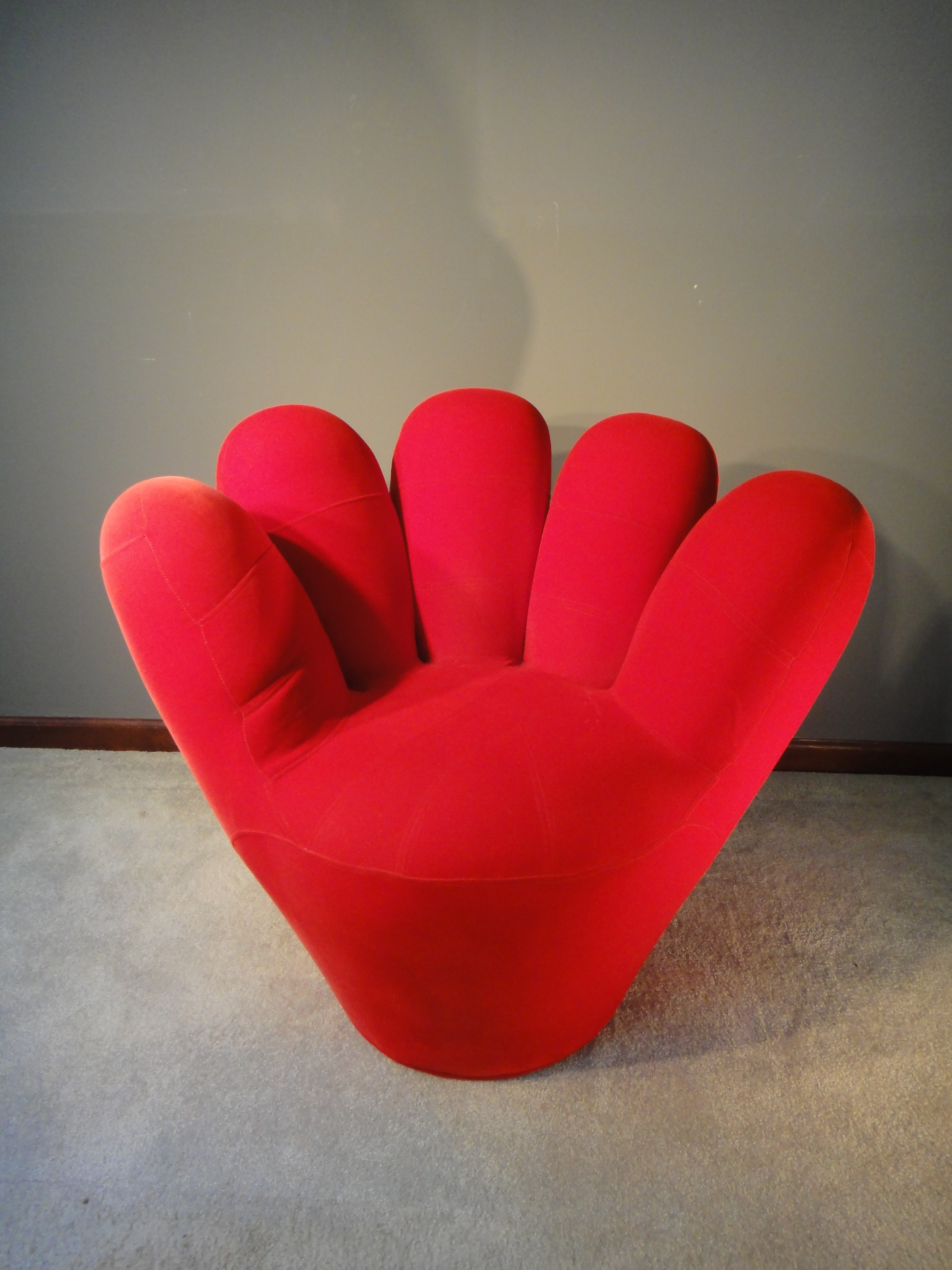 Adorable Bright Red Baseball Mitt Chair ...