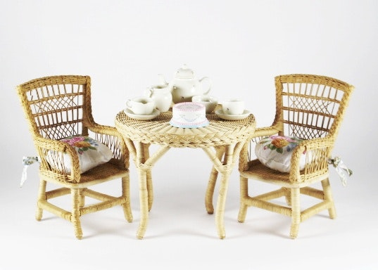 Buds Auto Sales >> American Girl Wicker Doll Table, Two Chairs With China Tea ...