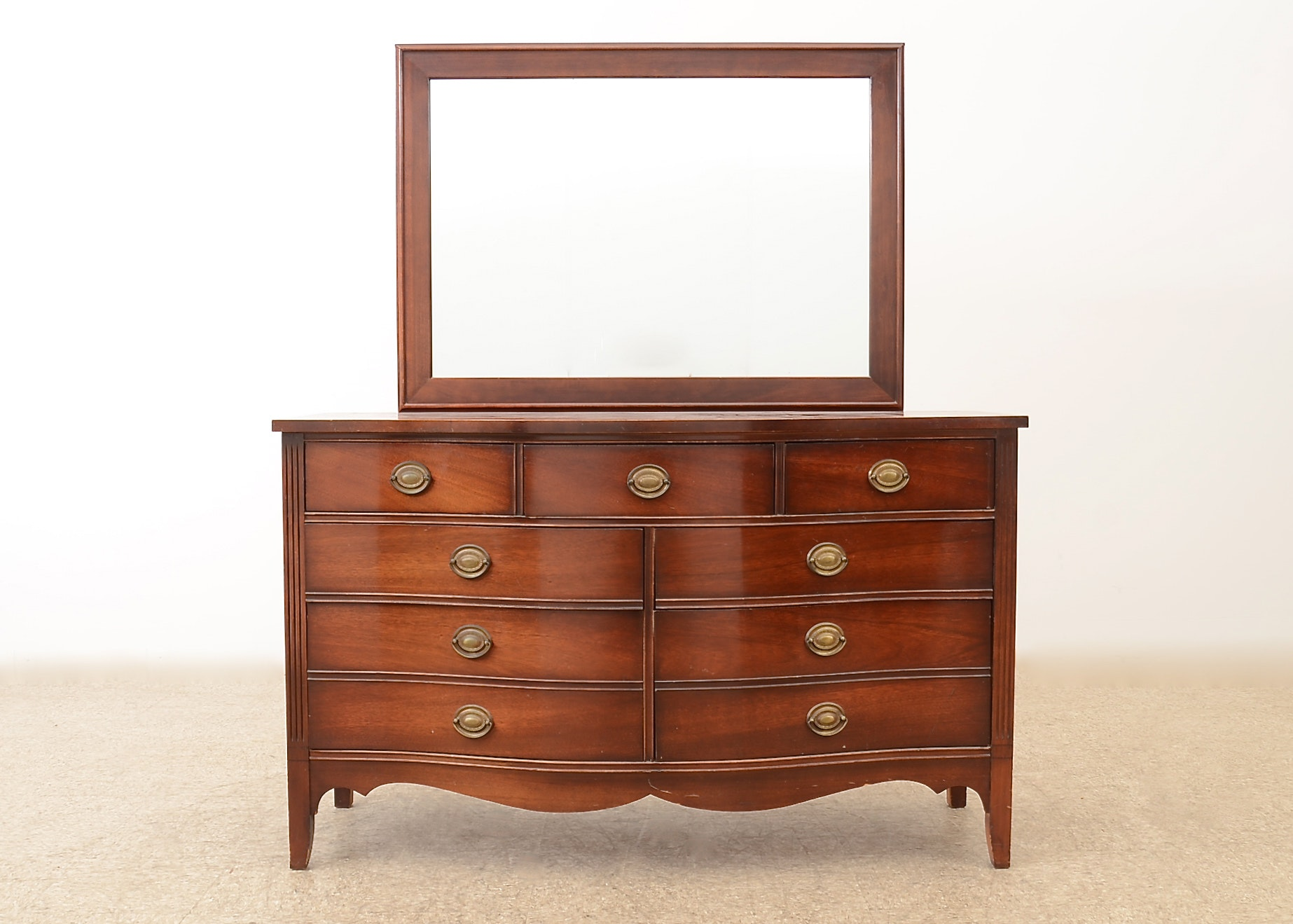 Federal Style Serpentine Front Dresser By Dixie Furniture ...