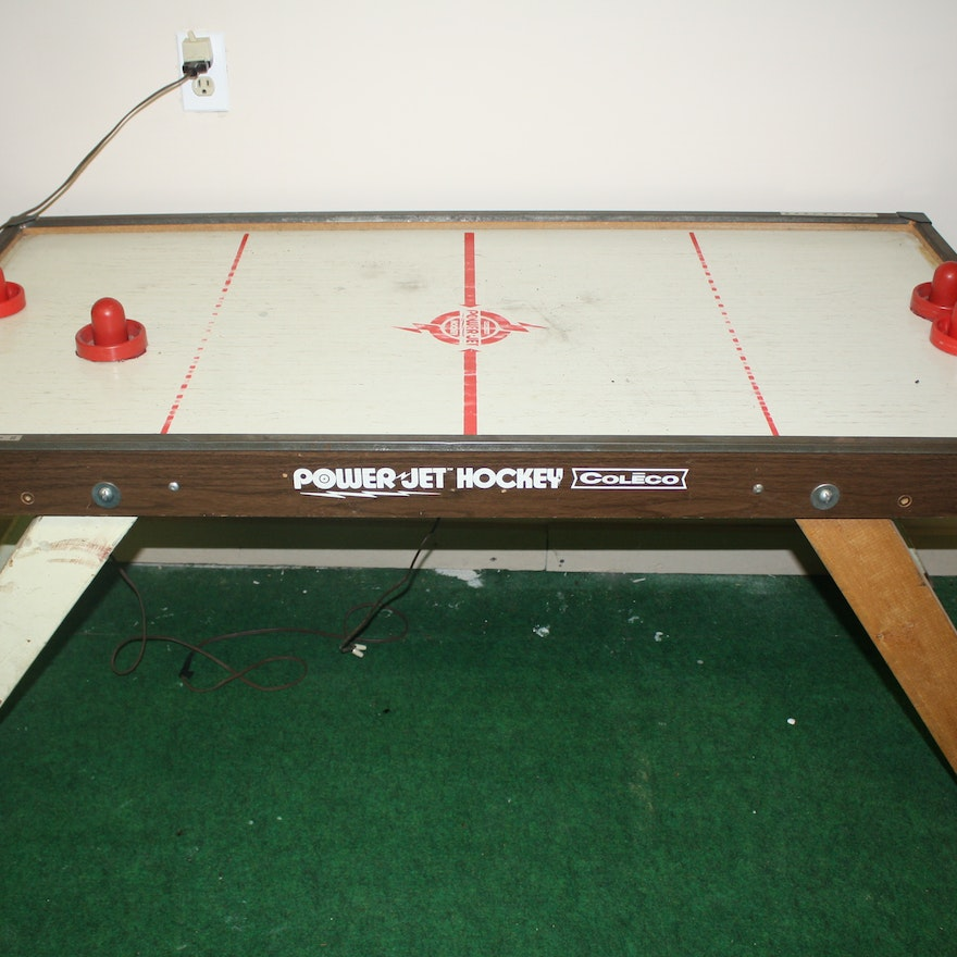 Vintage Coleco Jet Air Hockey Table