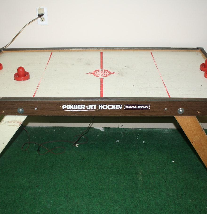 Vintage table hockey - Vintage Coleco Power Jet Air Hockey Table