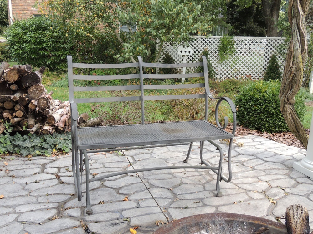 Wrought Iron Patio Glider Chair ...