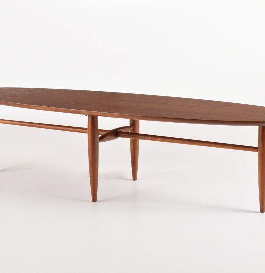 "Mersman ""Surfboard Style"" Coffee Table : EBTH"