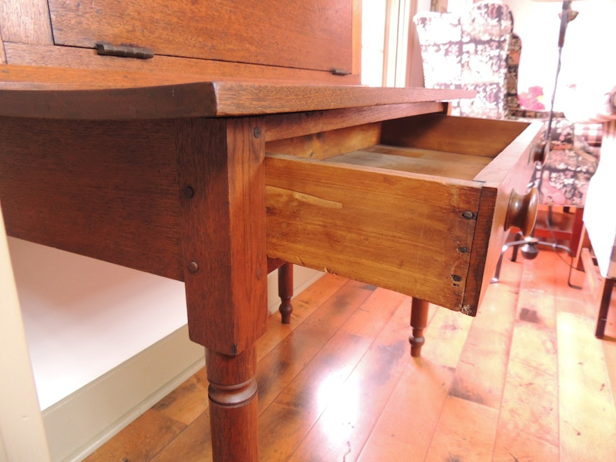 Antique 1800s Plantation Desk Ebth
