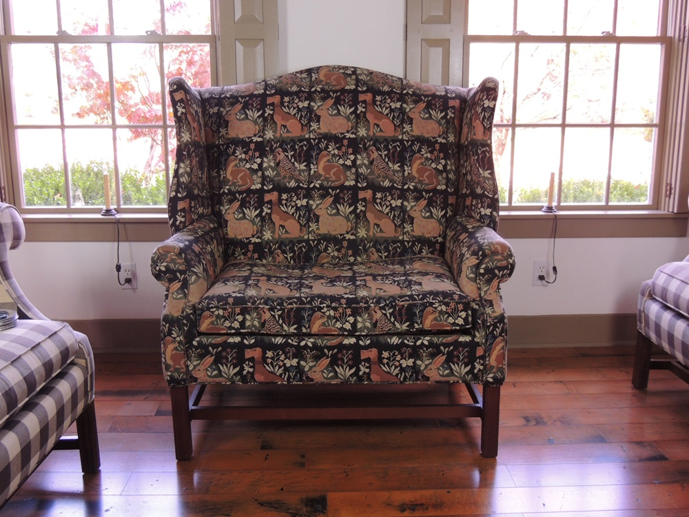Chair And Half Armchair With Animal Pattern Tapestry ...