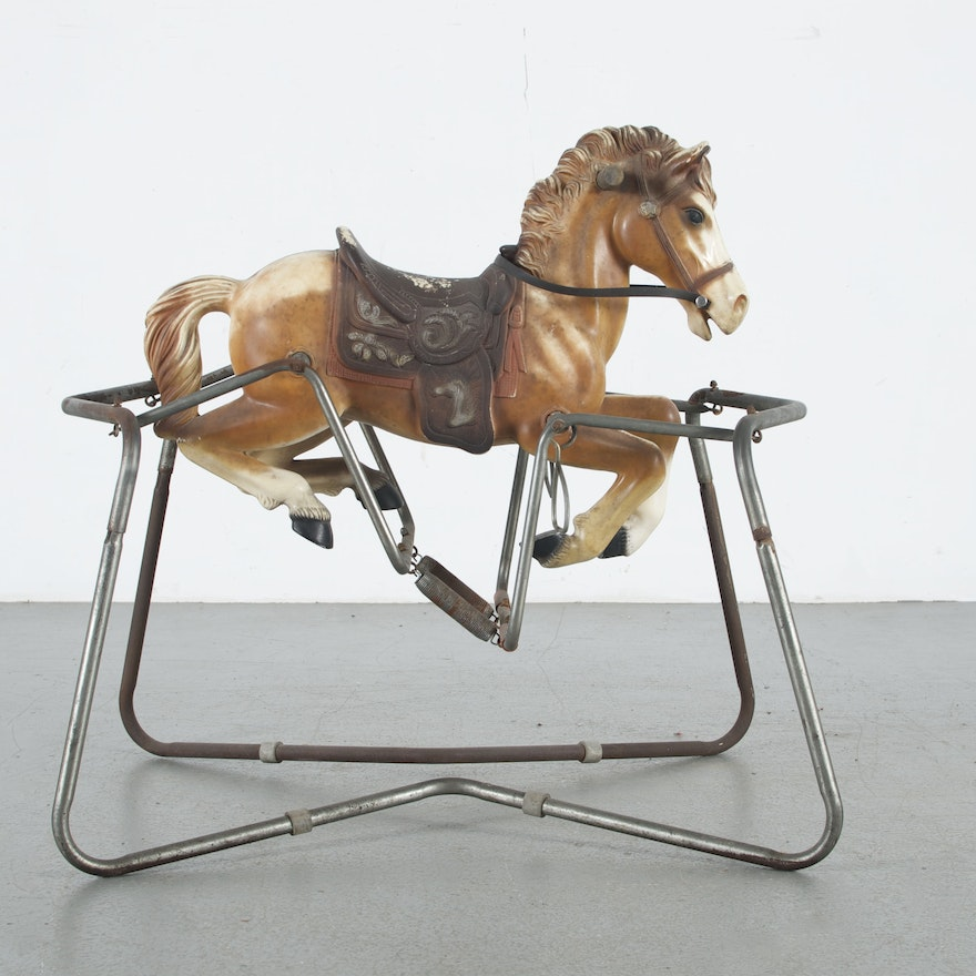Antique Rocking Horse With Springs