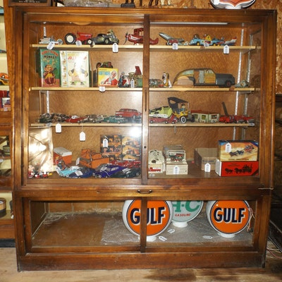 Antique Wood and Glass Store Display Cabinet - Vintage And Antique Cabinets Auction In Addyston, Ohio Personal