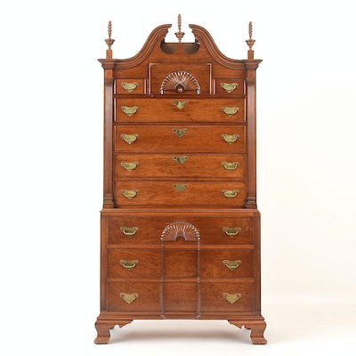 Large Chest on Chest Style Dresser - Online Furniture Auctions Vintage Furniture Auction Antique