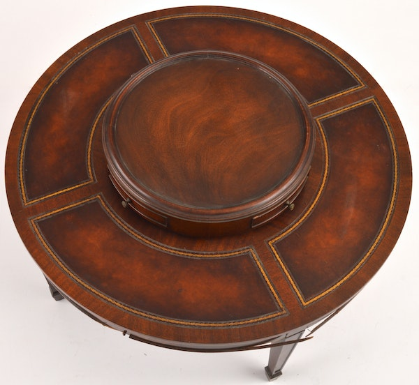 Inlaid Leather Coffee Table By Weiman Tables : EBTH