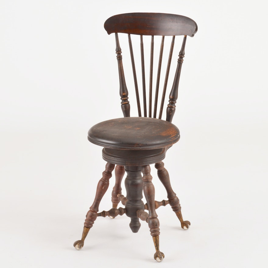 Super Melvin And Bancroft Late 19Th Century High Backed Piano Stool Gamerscity Chair Design For Home Gamerscityorg