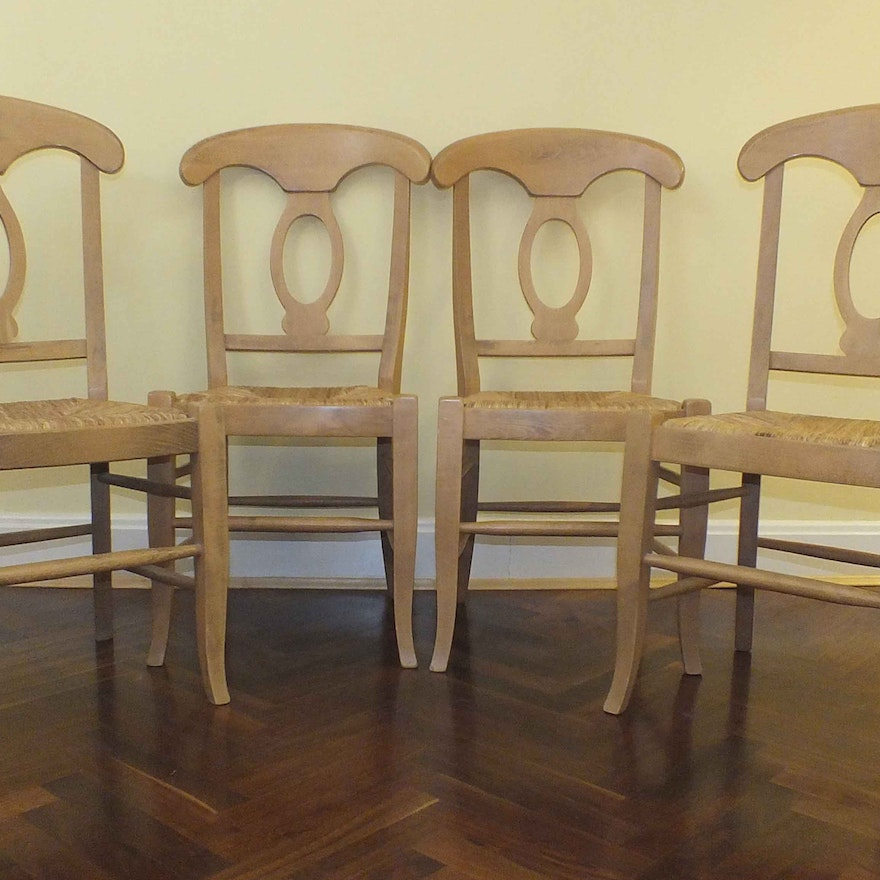 Four Pottery Barn Quot Napoleon Quot Side Chairs Ebth