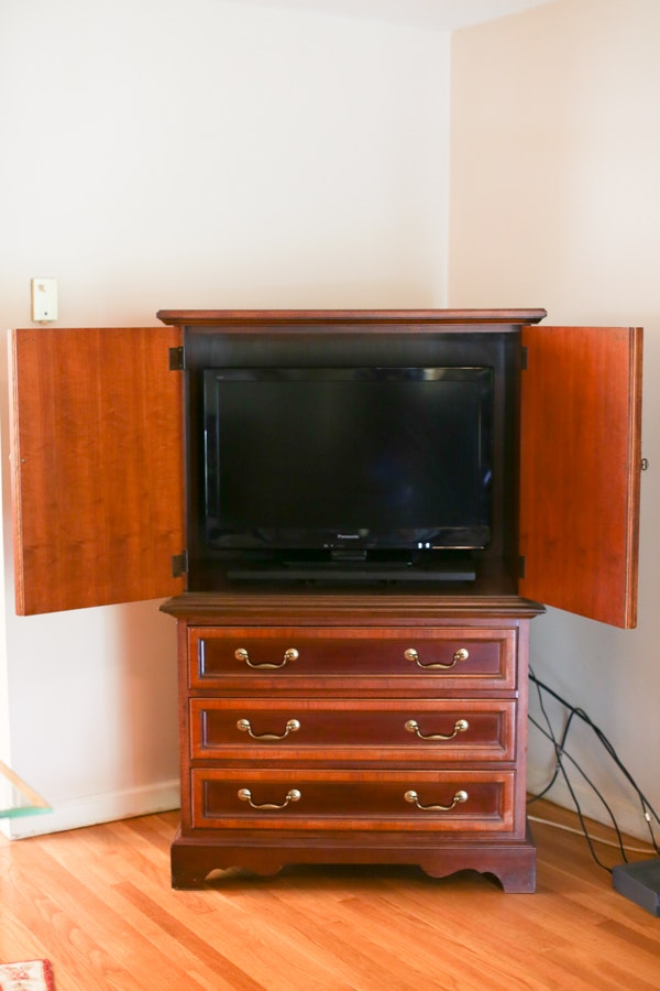 Thomasville Cherry Armoire Television Cabinet ...