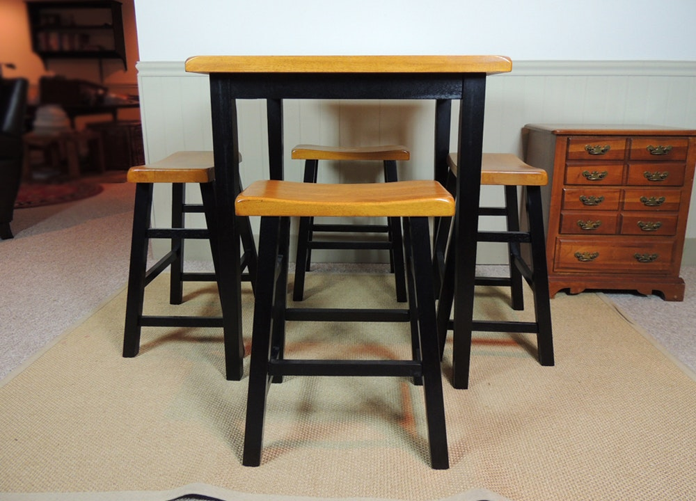 Merveilleux High Top Game Table With Bench Chairs ...