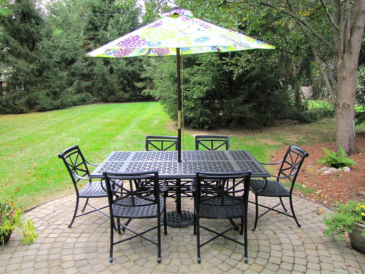 Smith And Hawken Edinborough Patio Dining Table And Chairs ... Part 96