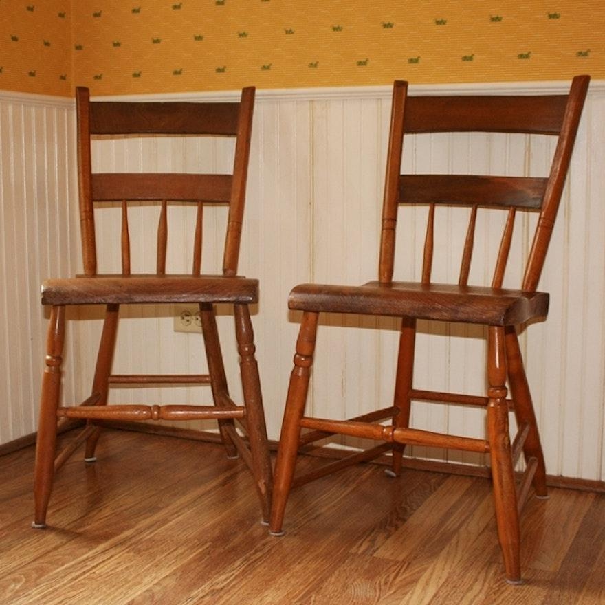 Antique Oak Kitchen Chairs ... - Antique Oak Kitchen Chairs : EBTH