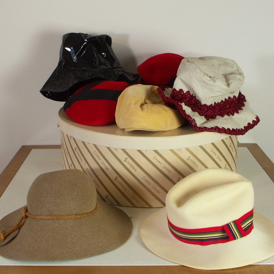f5e65bb976e Lot of Women s Vintage Wool Hats   EBTH
