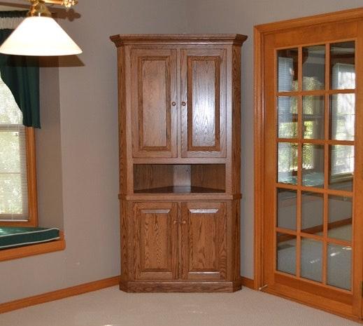 Amish Kitchen Cabinets Ohio: Amish Built Oak Corner Cabinet : EBTH