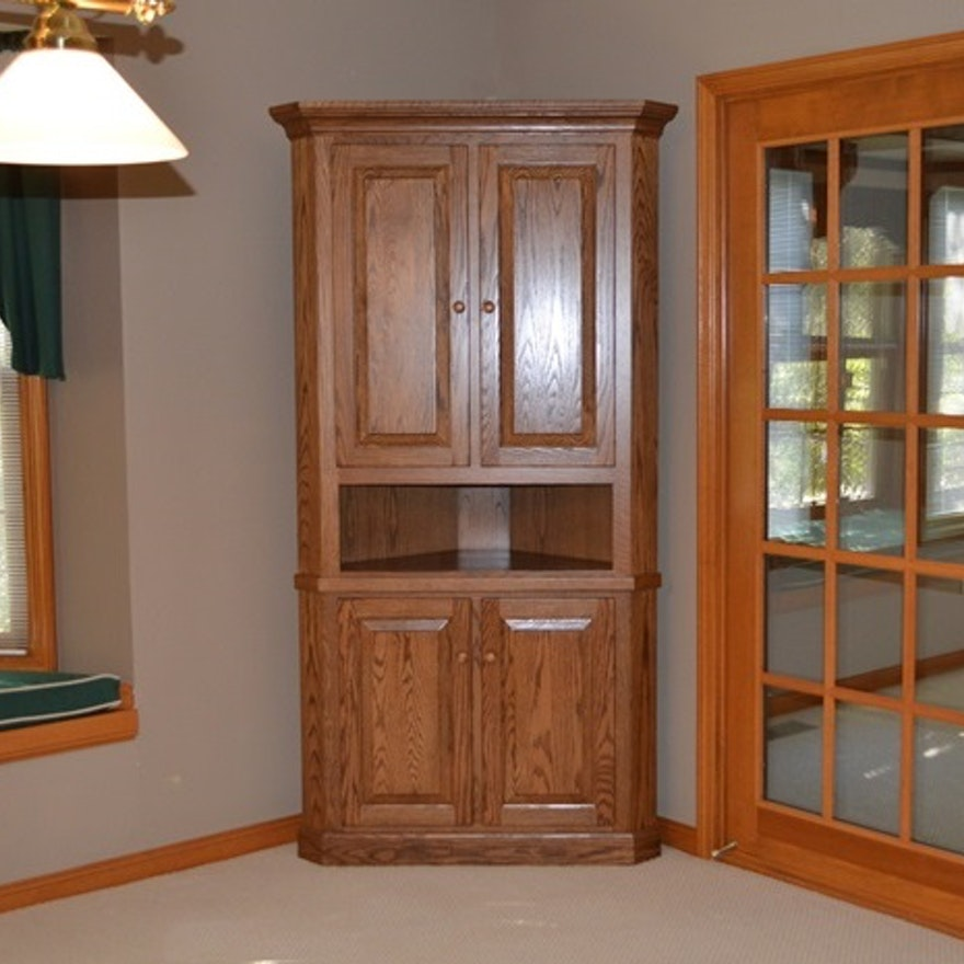 Amish Kitchen Cabinets Ohio: Amish Built Oak Corner Cabinet