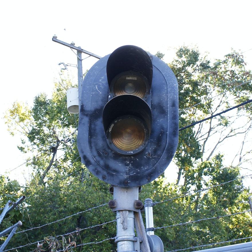 Vintage Railroad Crossing Lights