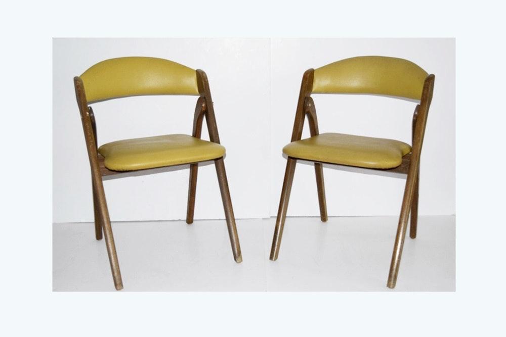 "Four Mid Century Modern Coronet ""Wonderfold"" Folding Chairs EBTH"