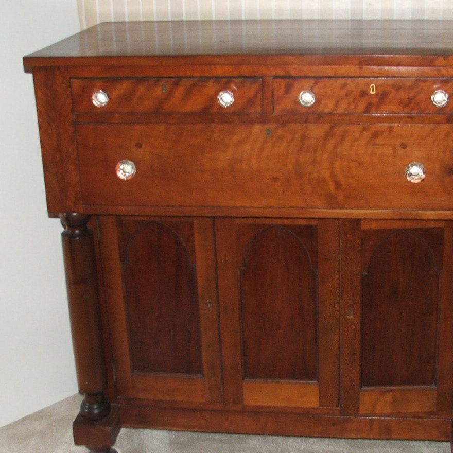 Antique Cherry Sideboard ... - Antique Cherry Sideboard : EBTH