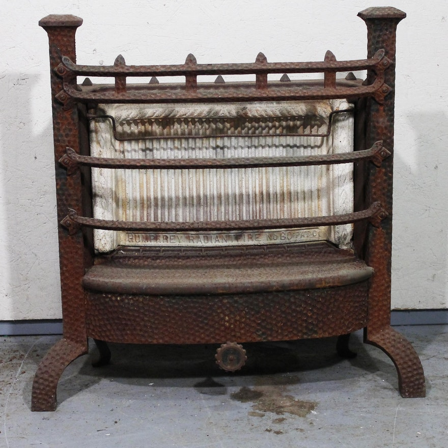 Antique Gas Fireplace Insert By Humphrey Radiant Fire