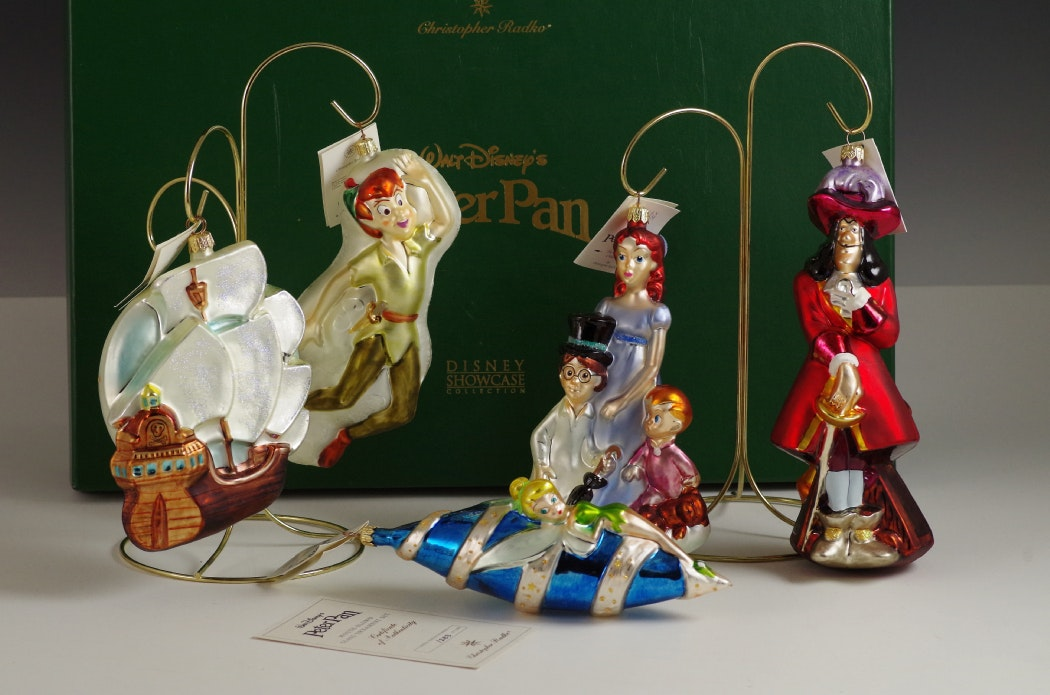 Radko 1998 Limited Edition 'Peter Pan' Complete Set in Box