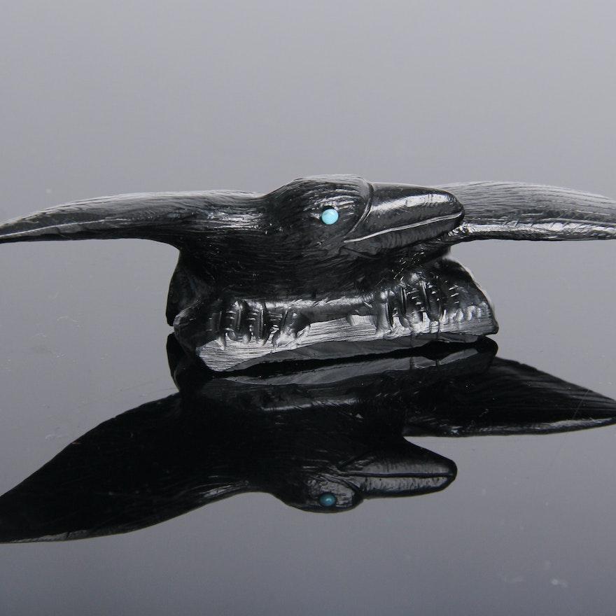 zuni fetish raven