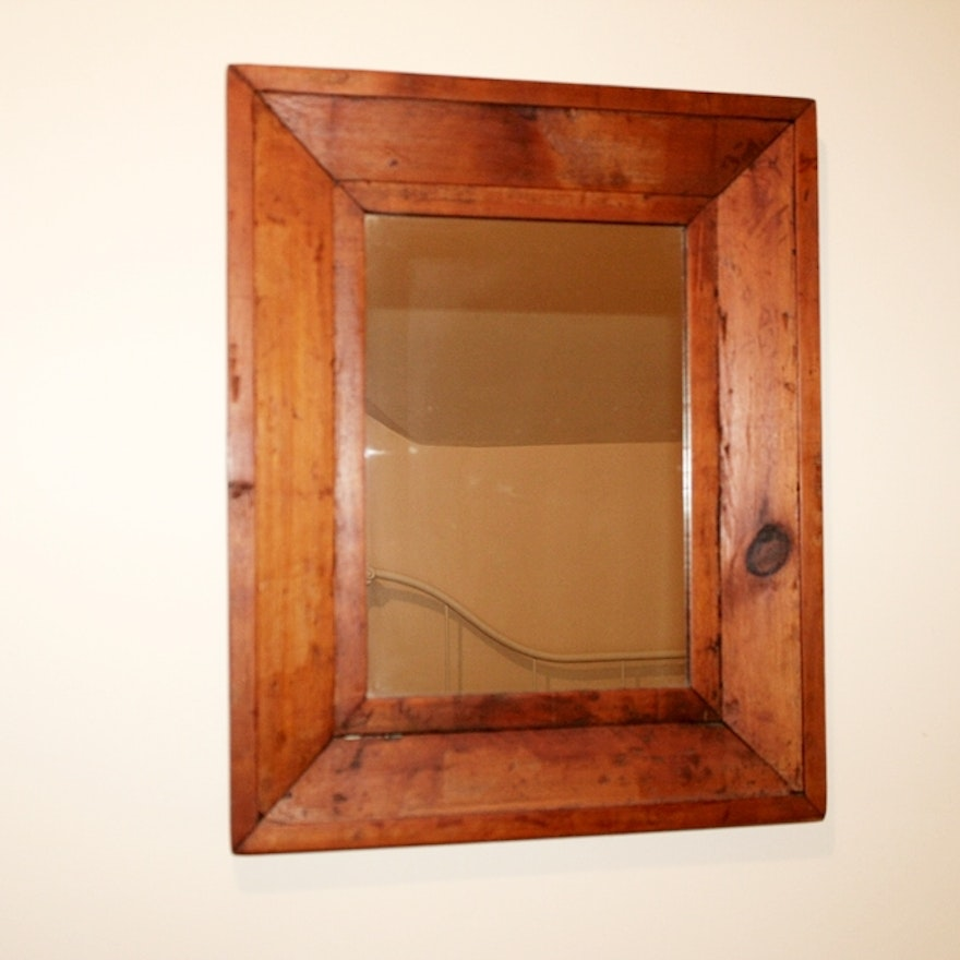 Rustic Wood Frame Mirror