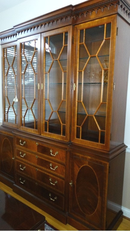James River Breakfront China Cabinet By Hickory Chair ...