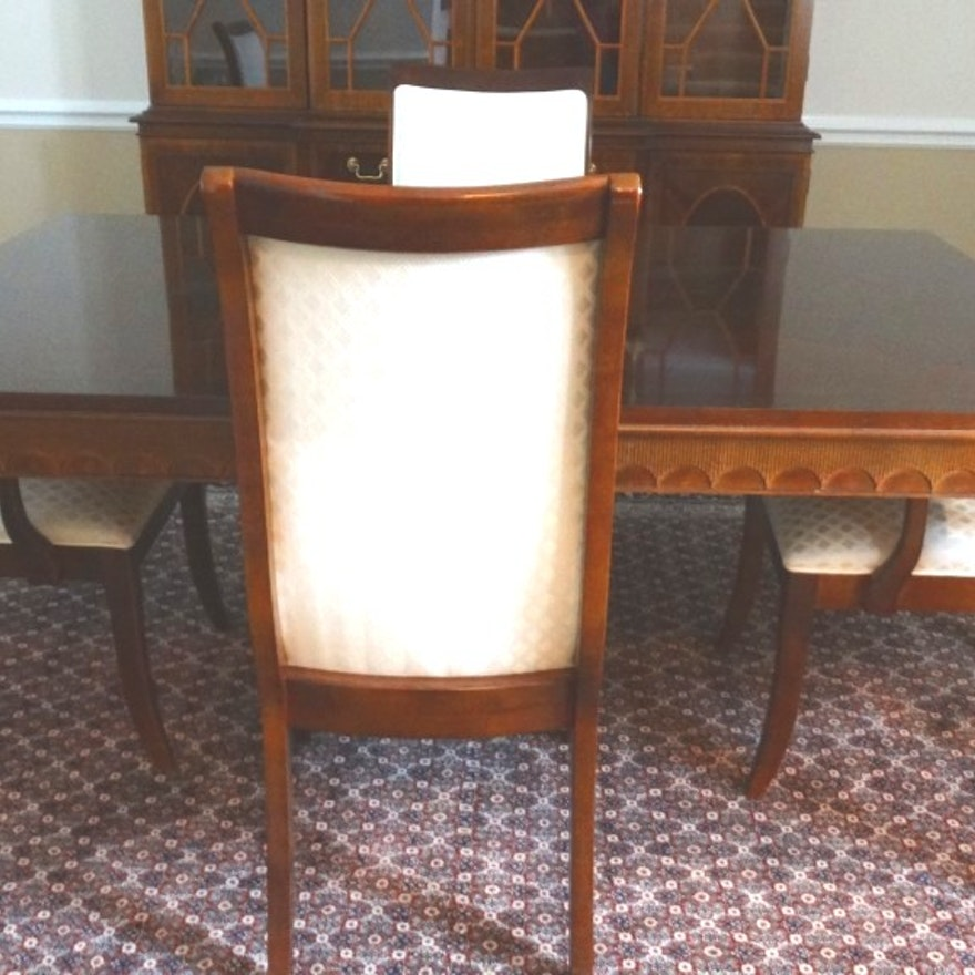 Elegant Stanley Empire Style Dining Room Table And Chairs