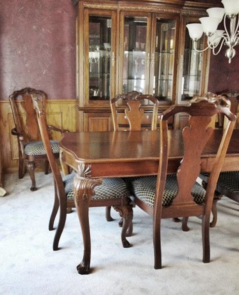 Thomasville impressions trafalgar diningroom table 8 for Hades dining table th8