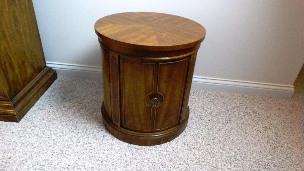 Genial Vintage Drexel Heritage Drum End Table ...
